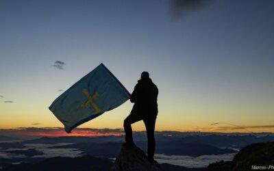 Feliz Día de Asturias desde la Sierra del Aramo